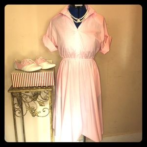 Vintage Beauty! Pink Shirt-Dress